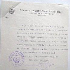 Documentos antiguos: CARTA SERVICIO AGRONOMICO NACIONAL 1949.. . ENVIO GRATIS¡¡¡. Lote 17133948