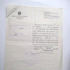 Documentos antiguos: CARTA DELEG. INDUSTRIA SEGOVIA. 1949. AMPLIACION CONFITERIA. .. . ENVIO GRATIS¡¡¡. Lote 17134269