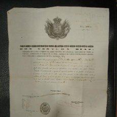 Documentos antiguos: PASAPORTE DE UN VECINO DE CALELLE LLAMADO ESTEBAN TORRUELLA Y MARTORELL. 1850.. Lote 24007424