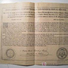 Old Documents - CERTIFICADO INDULTO APOSTOLICO AYUNO Y ABSTINENCIA 1930 - 18051817