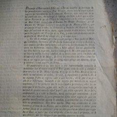 Documentos antiguos: DE LOS PAPELES DEVUELTOS AL PRINCIPE QUE SE HABIA OLVIDADO Y LO QUE ESTO CONTENIAN 1808 2 HOJAS N68. Lote 27506255