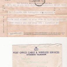 Documentos antiguos: TELEGRAM - POST OFFICE - 28/07/1959 - GLASGOW - CON SU SOBRE ORIGINAL. Lote 18316560