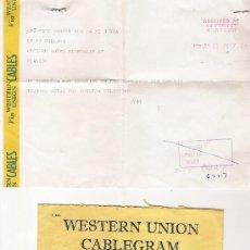 Documentos antiguos: WESTERN UNION - CABLEGRAM - 26/07/1959 - GLASGOW - CON SU SOBRE ORIGINAL. Lote 18316620