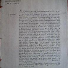 Documentos antiguos: CIRCULAR 1825 HABLA SOBRE LAS JUNTAS DE PURIFICACION Y QUIENES ESTAN SUJETOS A ELLAS Nº97. Lote 27597856