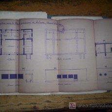 Documentos antiguos: PLANO ESCUELA REPUBLICA 1936 EN MALAGON - CIUDAD REAL- . Lote 27023530
