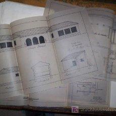 Documentos antiguos: PLANOS ORGINALES ESCUELA NIÑOS Y NIÑAS RIBAS DE SAELICES - GUADALAJARA - 1936 REPUBLICA. Lote 26640183