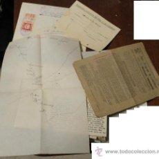 Documentos antiguos: LOTE DE UNOS 50 DOCUMENTOS CON DIFERENTES MEMBRETES, DE LOS AÑOS 20 AL 40. Lote 18607907