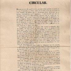 Documentos antiguos: CIRCULAR RENTA AGUARDIENTES Y LICORES. LERIDA 17 FEBRERO 1841. GUALTER - LLEIDA. 30X21CM. . Lote 26917560