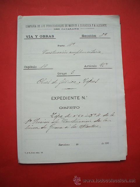 Documentos antiguos: FERROCARRIL - 1876 - Lote de documentos y plano - Linea de Gerona a la frontera - Foto 4 - 26852145