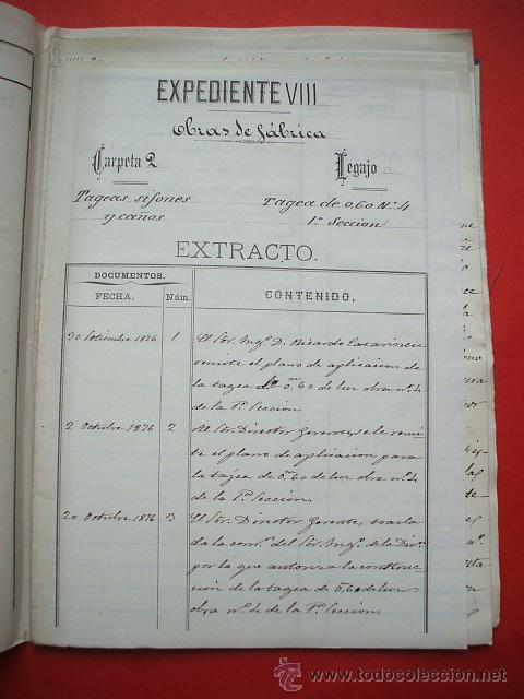 Documentos antiguos: FERROCARRIL - 1876 - Lote de documentos y plano - Linea de Gerona a la frontera - Foto 5 - 26852145