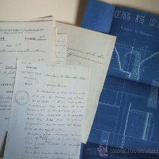 Documentos antiguos: FERROCARRIL - 1876 - LOTE DE DOCUMENTOS Y PLANO. Lote 26599895