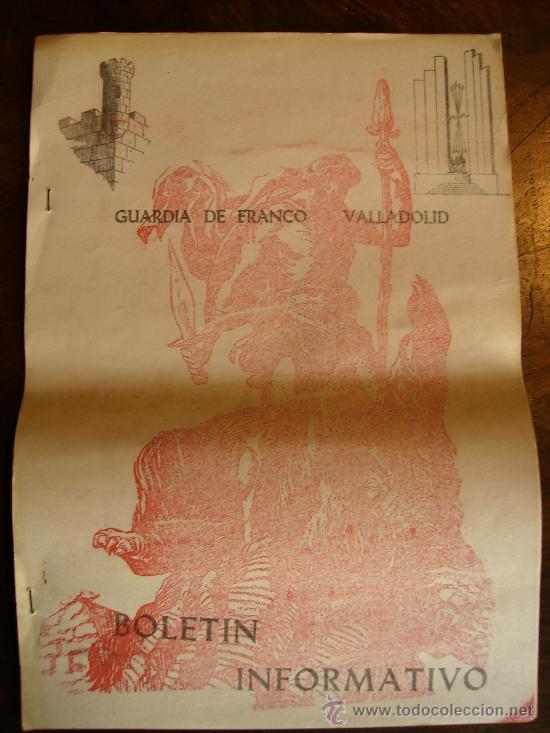 BOLETIN INFORMATIVO GUARDIA DE FRANCO VALLADOLID 1974 UNAS 12 HOJAS (Coleccionismo - Documentos - Otros documentos)