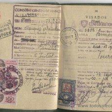 Documentos antiguos: ANTIGUO PASAPORTE.AÑO 1953.NUMEROSOS VISADOS.ALEMANIA.FRANCIA.SUIZA.AUSTRIA.ITALIA.SELLOS. TIMBRES.. Lote 19267414