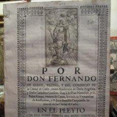 Documentos antiguos: CÁDIZ: PLEYTO DE D. FERNANDO DE ARROY CON D. PEDRO ALBREC, COMERCIO, SIGLO XVIII.. Lote 19418738