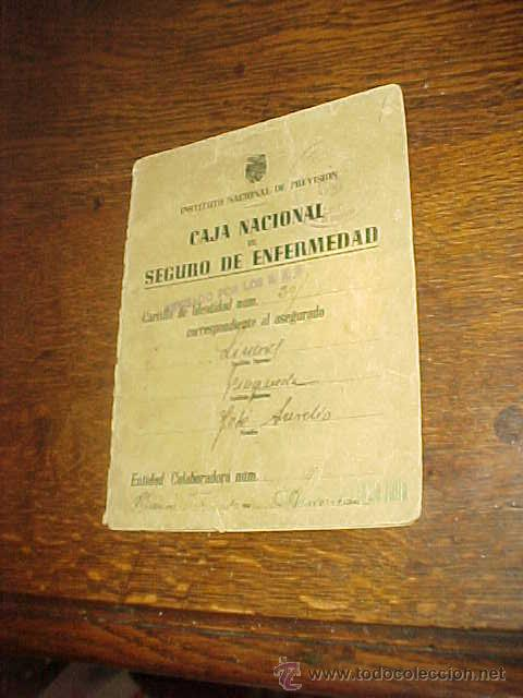 CAJA NACIONAL DE SEGURO DE ENFERMEDAD. INSTITUTO NACIONAL DE PREVISION. (Coleccionismo - Documentos - Otros documentos)