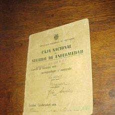 Documentos antiguos: CAJA NACIONAL DE SEGURO DE ENFERMEDAD. INSTITUTO NACIONAL DE PREVISION.. Lote 19555774