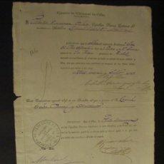 Documentos antiguos: MILITARIA. EJÉRCITO DE ULTRAMAR DE CUBA. AÑO 1875.. Lote 20121808