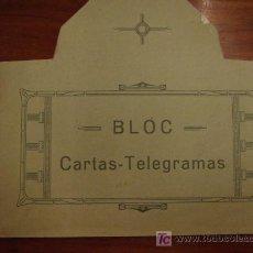 Documentos antiguos: BLOC DE CARTAS-TELEGRAMAS. Lote 20147482