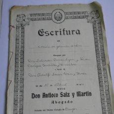 Documentos antiguos: ESCRITURA ACEPTACIÓN CONSTRUCCION CARRETERA VILLAMARTIN A CORNEJO (BURGOS) ADOLFO SAINZ ROJAS 1933. Lote 27565352