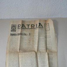 Documentos antiguos: DIARIO PATRIA Nº 253, LUNES 24 DE OCTUBRE DE 1921. Lote 24333139