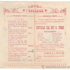 Documentos antiguos: ORFEÓ BARCELONÉS - 1904 . Lote 27566410