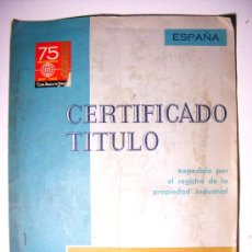 patente, certificado titulo, casa agustin ungria, domingo gomez senent, 1966