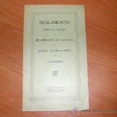 Documentos antiguos: REGLAMENTO DE SESIONES DEL AYUNTAMIENTO DE TARRAGONA. L9204. Lote 21978107