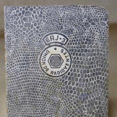 Documentos antiguos: CARNET DE RADIOYENTES, 1956, RADIO VALENCIA, SER, UNION DE RADIOYENTES, EAJ-3. Lote 21987994