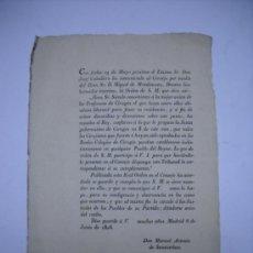 Documenti antichi: REAL ORDEN AÑO 1806 POR LO QUE SE ESTABLECE QUE TODOS LOS CIRUJANOS APROBADOS EN LOS REALES... . Lote 22260030
