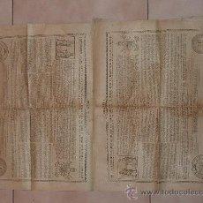 Documentos antiguos: RARO PAPEL RELIGIOSO DE 1918. DE BENEDICTO XV, LIMOSNAS. SANTA CRUZADA. AGRADEZCO INFORMACION.. Lote 23783003