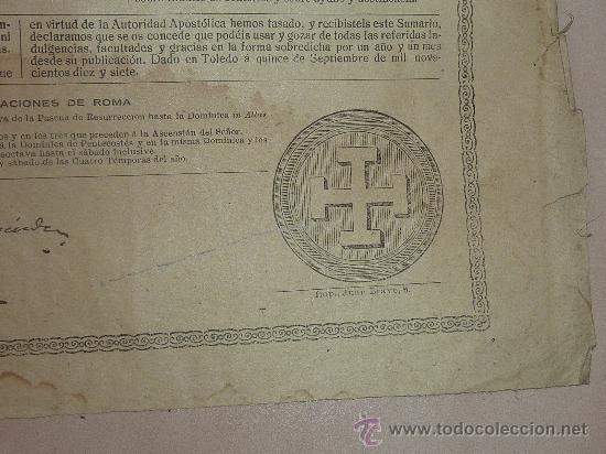 Documentos antiguos: raro papel religioso de 1918. De Benedicto XV, limosnas. Santa Cruzada. Agradezco informacion. - Foto 3 - 23783003