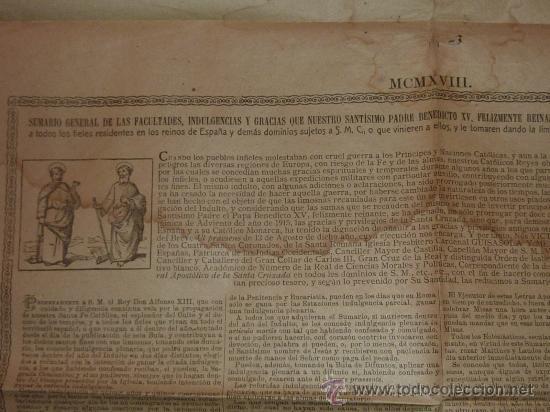 Documentos antiguos: raro papel religioso de 1918. De Benedicto XV, limosnas. Santa Cruzada. Agradezco informacion. - Foto 4 - 23783003