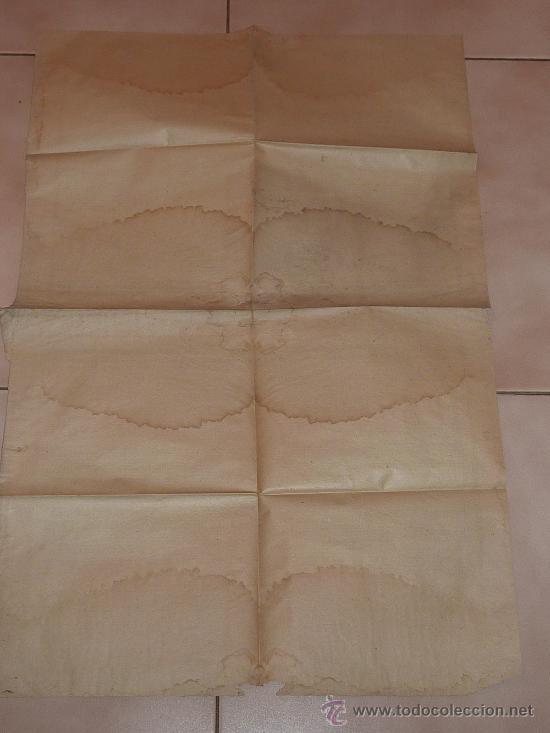 Documentos antiguos: raro papel religioso de 1918. De Benedicto XV, limosnas. Santa Cruzada. Agradezco informacion. - Foto 5 - 23783003