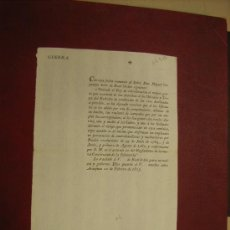 Documentos antiguos: MILITARIA. AÑO 1801. MINISTERIO DE LA GUERRA. SOBRE PRIORIDAD EN ALOJAMIENTOS Y BAGAJES DE MILITARES. Lote 22524996