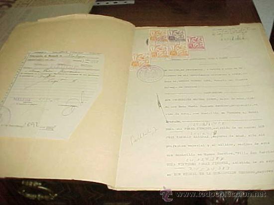 Documentos antiguos: COPIA DE ESCRITURA DE COMPRAVENTA. NOTARIA DE DON GERMAN ROMERO LEMA. MALAGA 1958. TIMBRE Y SELLOS* - Foto 2 - 22795254