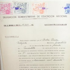 Documentos antiguos: MAESTRA NACIONAL 1956 UNCASTILLO, ZARAGOZA DOCUMENTO AUMENTO DE SUELDO SELLO M. ENSEÑANZA PRIMARIA. Lote 24370052