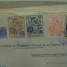 Documentos antiguos: MAESTRA NACIONAL 1951 UNCASTILLO, ZARAGOZA, DOCUMENTO.AUMENTO SUELDO SELLO MU.ENSEÑANZA PRIMARIA. Lote 24370054