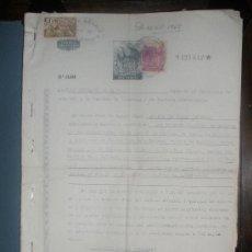 Documentos antiguos: ESCRITO DE AÑO 1967 SOBRE JUICIO VERBAL. CINCO HOJAS CON SELLOS,TIMBRES.CERVERA Y ARANDA DE DUERO. Lote 26404052
