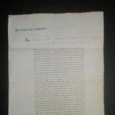 Documentos antiguos: HUESCA.MONZON.ESCRITURA DE REDENCION SOBRE UN CENSO DE UN CAMPO EN LOS TERMINOS DE MONZON AÑO 1859 . Lote 27371630