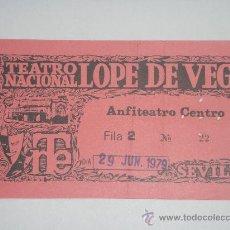 Documentos antiguos: TEATRO LOPE DE VEGA -SEVILLA 1979-. Lote 27531589