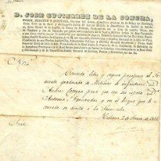 Documentos antiguos: CUBA. HABANA. CAPITÁN GENERAL DE LA CONCHA. 1851. PASAPORTE PARA REGRESAR A ESPAÑA.. Lote 27440211