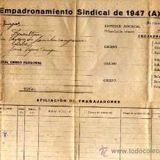 Documentos antiguos: JUNTA DE LA CERCA EMPADRONAMIENTO SINDICAL. 1947. ESCANEADO PARTE DEL DOCUMENTO. BURGOS. Lote 24768810