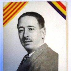 Documentos antiguos: FOTO DE LLUIS COMPANYS, CON LA BANDERA REPUBLICANA Y LA CATALANA, DE 9 X 14 CMS.. Lote 24777594