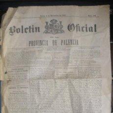 Documentos antiguos: BOLETIN OFICIAL DE LA PROVINCIA DE PALENCIA. AÑO 1897.. Lote 26454186
