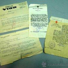 Documentos antiguos: 4 PERMISOS CARTAS CIRCO PRICE Y FRANCIA PARA PONER CARTELES BURGOS PAMPLONA GRÁFICAS VIOR AÑOS 60. Lote 24915824