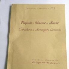 Documentos antiguos: PLANO EXPEDIENTE CÁMARA HUMOS CEMENTOS MOLINS ,SANT VICENÇ DELS HORTS BARCELONA 1951. Lote 27272353