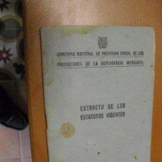 Documentos antiguos: ESTATUTOS DEL MONTEPIO NACIONAL DE PREVISION 1951. Lote 25277634