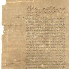 Documentos antiguos: DOCUMENTO MILITAR 1835 .. GOBERNADOR DE MATANZAS. Lote 25289288
