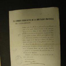 Documentos antiguos: CERTIFICADO DE PAGO PARA EXENCIÓN DE SERVICIO A LAS ARMAS. AÑO 1875.. Lote 25413568