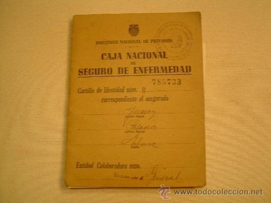 CARTILLA CAJA NACIONAL DE SEGURO DE ENFERMEDAD 1948 (Coleccionismo - Documentos - Otros documentos)